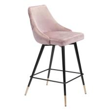 Zuo Modern Piccolo Counter Chair PinkBlack
