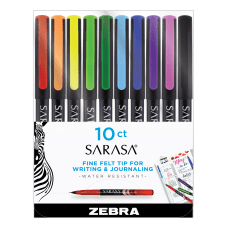 Zebra Sarasa Fineliner Pens Needle Point