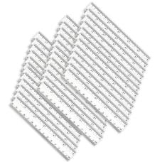 Charles Leonard Plastic Rulers 6 Clear