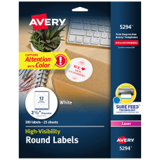 Avery High Visibility Print To The