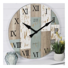 FirsTime Co Timberworks Wall Clock Multicolor