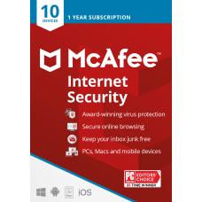 McAfee Internet Security 10 Devices Antivirus