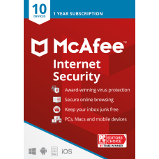 McAfee Internet Security For 10 PC