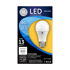 GE A19 Dimmable 800 Lumens LED
