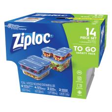 Ziploc 7 Piece Plastic Food Storage