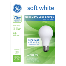 GE A19 Energy Efficient Soft White