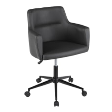 LumiSource Andrew Contemporary Office Chair BlackGray