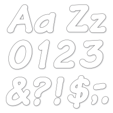 TREND Ready Letters Italic 4 White
