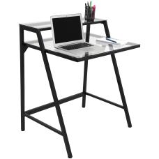 Lumisource 2 Tier Computer Desk Black