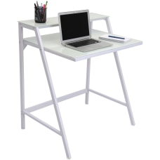 Lumisource 2 Tier Computer Desk White