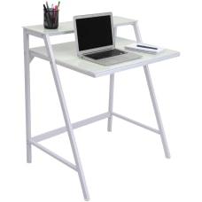 Lumisource 2 Tier Computer Desk White