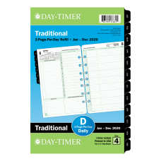 Day Timer Reference Daily Refill Desk
