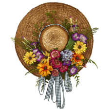 Nearly Natural Plastic Mixed Flower Hat
