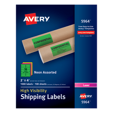 Avery High Visibility Shipping Labels AVE5964