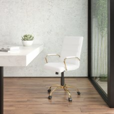 Flash Furniture Leathersoft Mid Back Office
