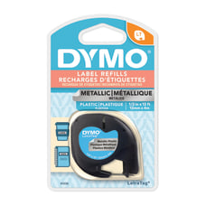 DYMO LT 91338 Black On Silver