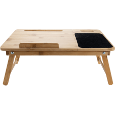 Mind Reader Bamboo Adjustable Bed Tray