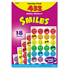 Trend Stinky Stickers Smiles Pack Of