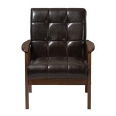 Baxton Studio Levin Club Chair Brown