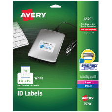 Avery Multipurpose ID Labels 6570 Rectangular