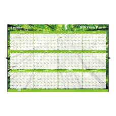 Blueline Laminated Erasable Wall Calendar 24