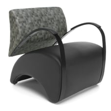 OFM Recoil Series Lounge Chair NickelBlack