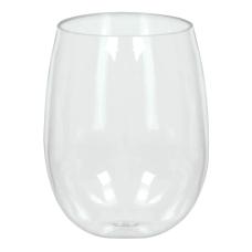 Amscan Premium Plastic Stemless Wine Glasses