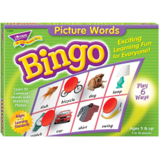 Trend Picture Words Bingo Game Educational