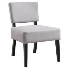Monarch Specialties Armless Accent Slipper Chair