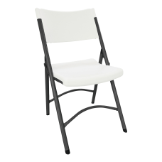 Alera Molded Resin Folding Chair WhiteDark
