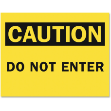 Tarifold Safety Sign Inserts Caution Do