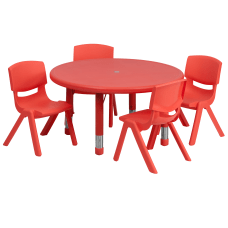 Flash Furniture Round Plastic Height Adjustable