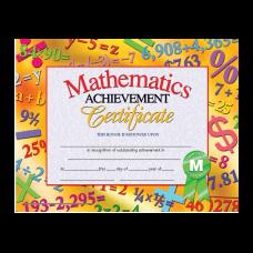 Hayes Publishing Certificates Mathematics Achievement 8