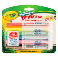 Crayola Washable Dry Erase Fine Line