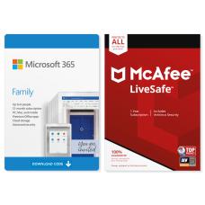 Microsoft 365 Family McAfee LiveSafe