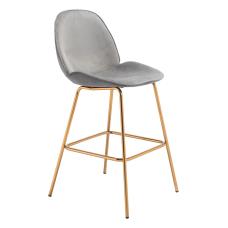 Zuo Modern Siena Bar Chairs Graphite
