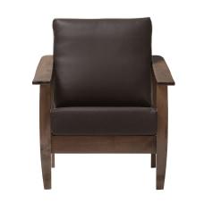 Baxton Studio Anton Lounge Chair Dark