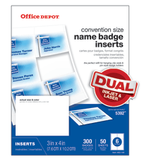 Office Depot Brand Badge Inserts 3