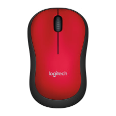 Logitech M185 Wireless Mouse Red 910