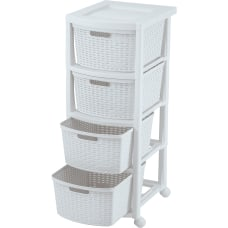 Rimax Plastic 4 Drawer Rolling Storage