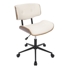LumiSource Lombardi Office Chair WalnutCream