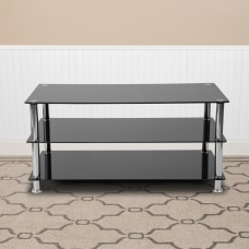 Flash Furniture Glass TV Stand With