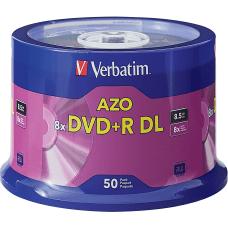 Verbatim DVDR DL Branded Surface Spindle