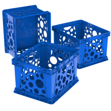 Storex Mini Crates Medium Size Blue