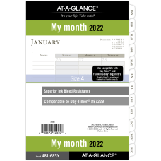 AT A GLANCE Monthly Planner Refill