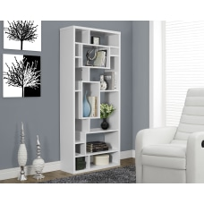 Monarch Specialties 14 Shelf Bookcase White