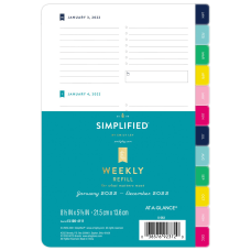 AT A GLANCE Simplified System Weekly