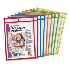 Charles Leonard Reusable Dry Erase Pockets