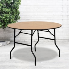 Flash Furniture Round Wood Folding Banquet