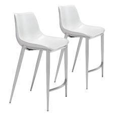 Zuo Modern Magnus Counter Chairs WhiteBrushed